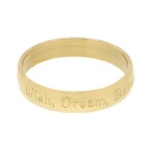 iXXXi Ring 4mm Goudkleurig Wish Dream Believe