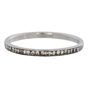 iXXXi Ring 2mm Stainless Steel Small Zirkonia Crystal