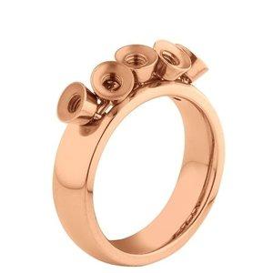 Melano Twisted Ring Tess Edelstaal Rose Goudkleurig