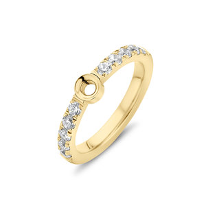 Melano Twisted Zirkonia Ring Goudkleurig