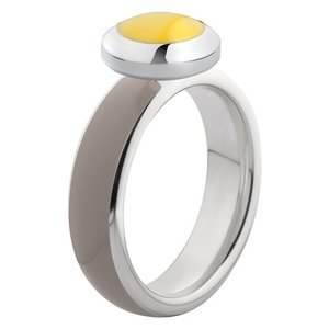 Melano Vivid Ring Edelstaal Zilverkleurig Taupe
