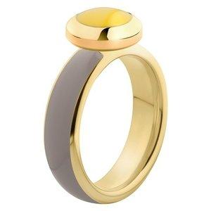 Melano Vivid Ring Edelstaal Goudkleurig Taupe