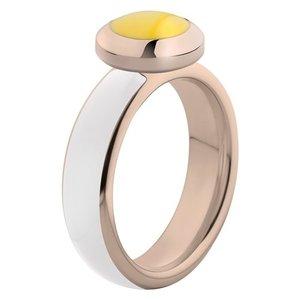 Melano Vivid Ring Edelstaal Rose Goudkleurig White