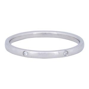 iXXXi Ring 2mm Edelstaal Zilverkleurig Elegance