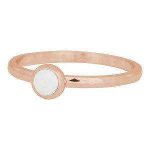 iXXXi Ring 2mm Edelstaal Rose Goudkleurig Bright White