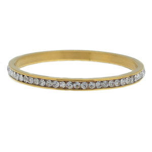 iXXXi Ring 2mm Gold-coloured Small Zirkonia Crystal