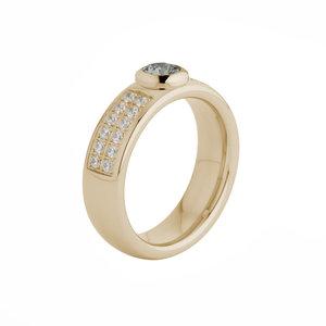 Melano Vivid Edelstaal Ring Rose Goudkleurig Vicky Zirkonia Crystal 6mm breed