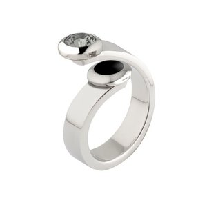 Melano Vivid Ring Violet Edelstaal Zilverkleurig 6mm breed