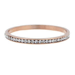 iXXXi Ring 2mm Rose Gold-coloured Small Zirkonia Crystal