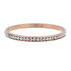 iXXXi Ring 2mm Rose Goudkleurig Small Zirkonia Crystal