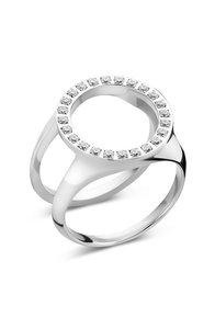 Melano Friends Cover Ring Zirkonia Zilverkleurig