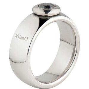Melano Vivid Ring Vicky 8mm Edelstaal Zilverkleurig