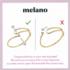 Melano Twisted Armband Taya Edelstaal Rose Goudkleurig_