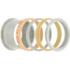 iXXXi Ring 4mm Edelstaal Sandblasted Bruin_