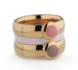 Melano Vivid Ring Vicky 6mm Edelstaal Zwart_