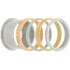 iXXXi Ring 2mm Rose Goudkleurig Small Zirkonia Crystal_